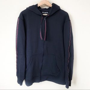 Wellington | Navy Blue Zip Up Hoodie